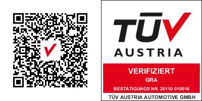 Logo TUEV und QR DE