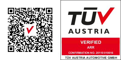 Logo TUEV und QR EN